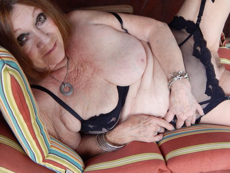 Readers Wives Online - My 70 Year Old Mature Wife Posing On The Porch At